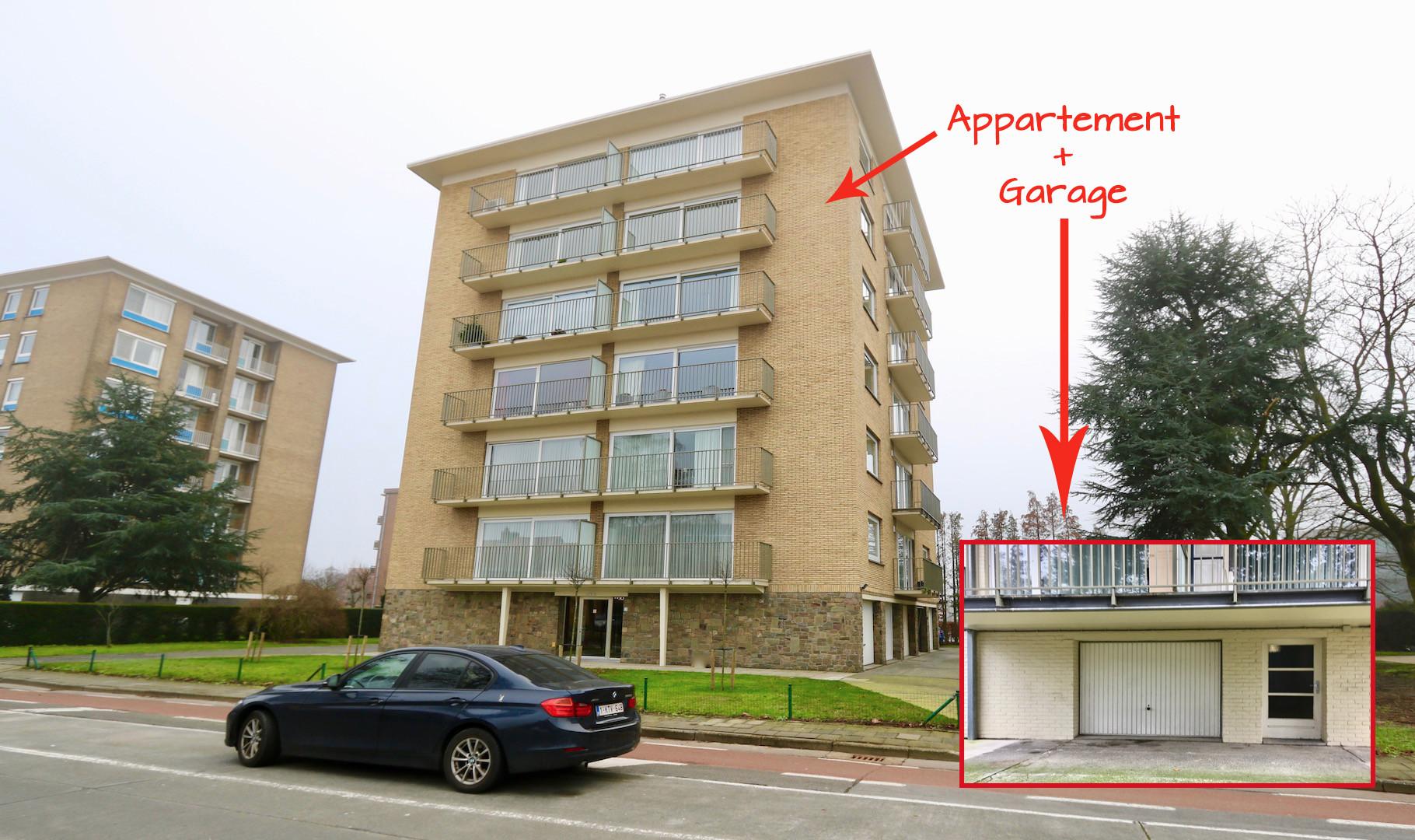 Toplocatie te Sint-Michiels, ruim 3 slaapkamer appartement met mooie terrassen (5de verdieping met een mega uitzicht !) en grote garage