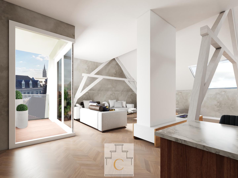 Koetshuys Sinave, project te Brugge - penthouse